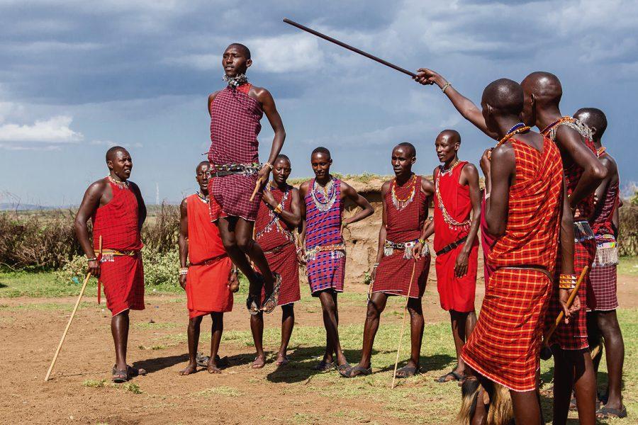 Masai dance4 , Masai Mara Kenia 7343